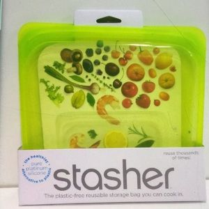 Stasher pure silicon food storage new